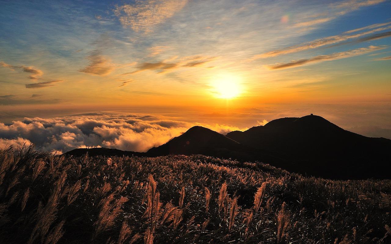 sole sui monti